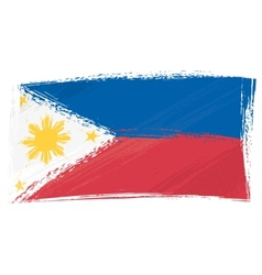 Grunge Philippines flag vector image vector image