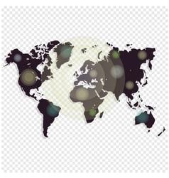 World map isolated on white background Worldmap vector image