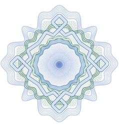 rozetka 4 blue green2 vector image