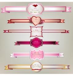 Set of holiday ribbons vector image vector image