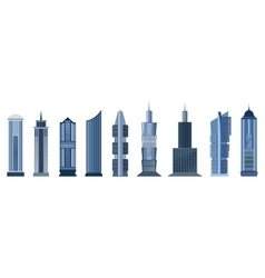 Skyscraper icons isolated on white background vector image
