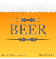 Yellow beer background card vector image
