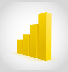 yellow graph chart background vector image vector image
