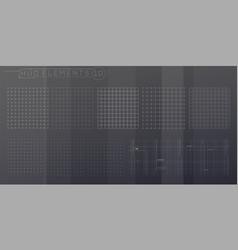 A set hud grids elements for futuristic vector