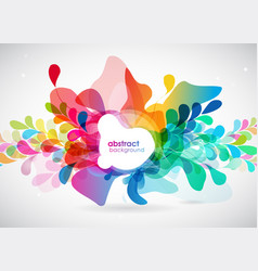 abstract colored background with shapes vector image