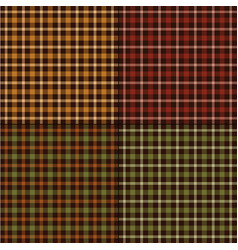 Autumn color plaids vector