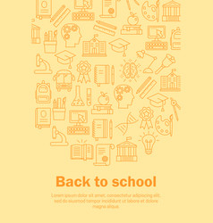 Back to school flat pattern vector