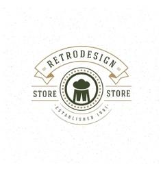 Beer Logo Design Element in Vintage Style vector image