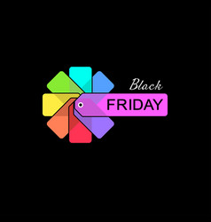 black friday tags vector image
