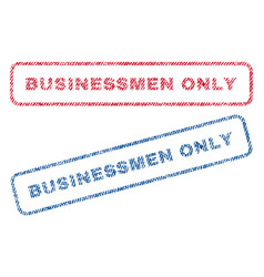 Businessmen only textile stamps vector