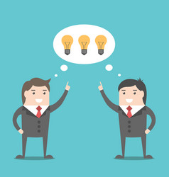 Businessmen sharing ideas vector