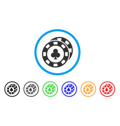 Casino chips icon vector