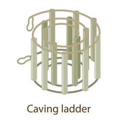 Caving ladder icon isometric style vector