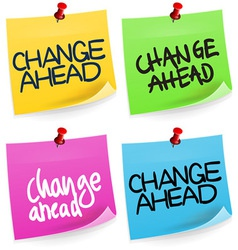 Change Ahead Sticky Note vector image