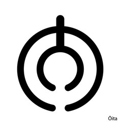 Coat arms oita is a japan prefecture emblem vector