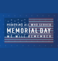 Collection banner for memorial day vector