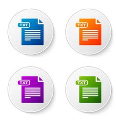 color txt file document download txt button icon vector image