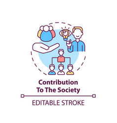 Contribution to society concept icon vector
