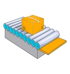 Conveyor system icon cartoon style vector