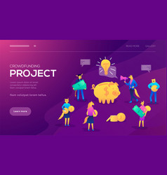 Crowd sourcing and fundraising vector