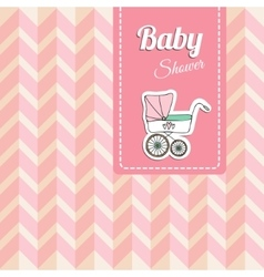 Cute bashower card invitation with baby vector
