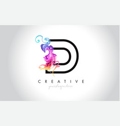 D vibrant creative leter logo design with vector