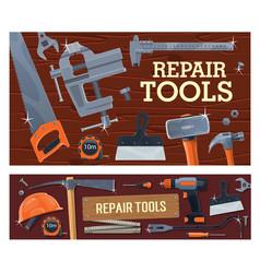 diy construction tools repair building carpentry vector image