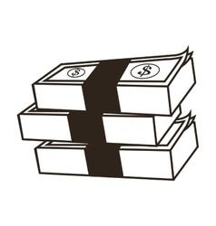 dollar bills icon vector image