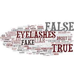 False word cloud concept vector