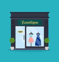 fashion boutique facade clothes shop ideal vector image