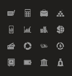 financical - flat icons vector image