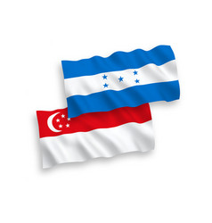 flags honduras and singapore on a white vector image