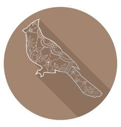 Flat icon of cardinal bird vector