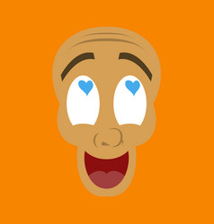 Flat icon on theme humor love laughs vector