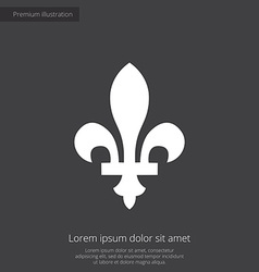 fleur-de-lys premium icon vector image