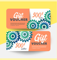 floral gift voucher vector image
