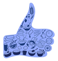 Food like social button blue vector