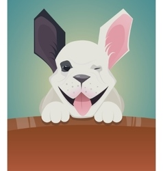 Funny cartoon dog French Bulldog vector