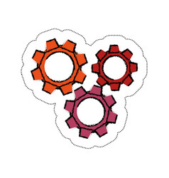 Gears wheels icon vector