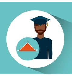 Graduate student man geometry vector