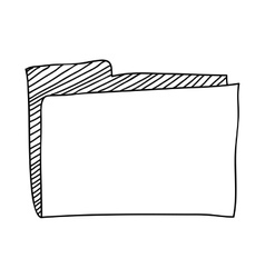 Hand drawing with office folder vector