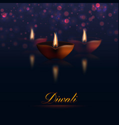 Happy Diwali traditional holiday vector