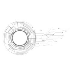 Hi-tech circle digital futuristic technology vector