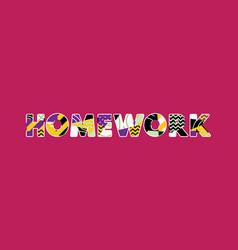 Homework concept word art vector