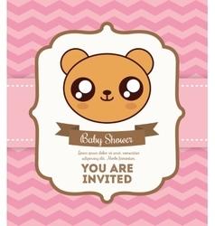 Kawaii bear Baby Shower design graphic vector