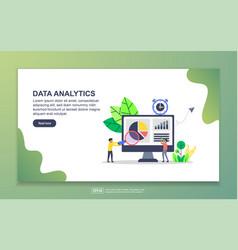 landing page template data analytics modern vector image