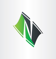 Letter n stylized icon design vector