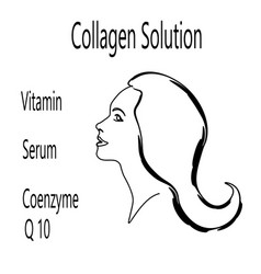 Logo collagen solution vector