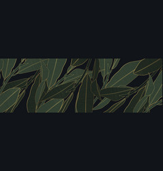 luxury gold and nature green background vector image