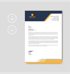 Modern orange letterhead layout template vector